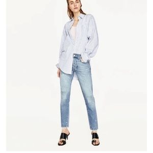 Zara | Mid Rise Boyfriend Style Straight Leg Jeans